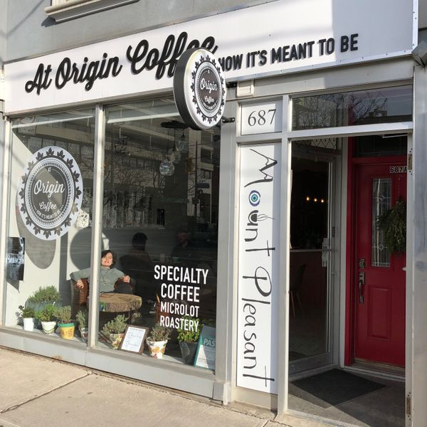 At Origin: Coffee for artists, art for Mount Pleasant